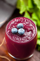 Blaubeeren smoothie