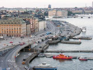 STOCKHOLM - JULY 20, 2007: Tourists along city streets. The city