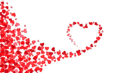 Valentine's day heart card template. Heart silhouette