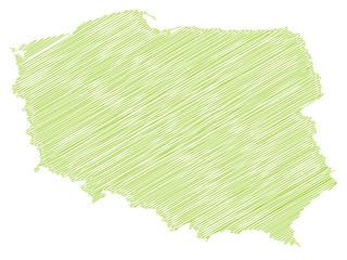 Landkarte *** scribbled Polen