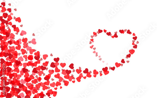 valentine s day heart card template heart silhouette stock image