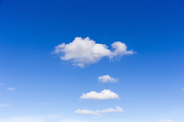 white clouds on blue sky backround