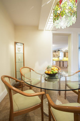 Dining room inside classic house