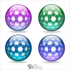 Glossy Crystal Ball_Honeycomb #Vector