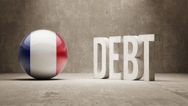 France. Debt  Concept