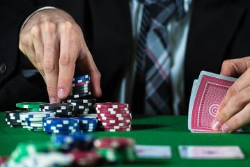 Man betting on the casino