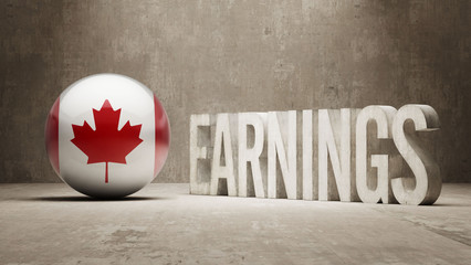 Canada Earnings Concept