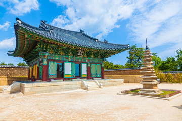 Foto auf AluDibond Tempel Naksansa (Korean Temple) in Sokcho, South Korea
