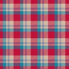 Red, blue, beige seamless tartan cloth pattern
