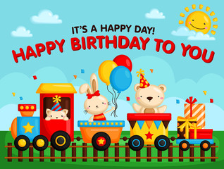 birthday train card