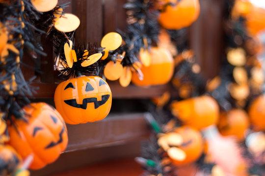 orange colour Halloween festival decoration light hanging