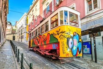 Gloria Funicular, Lisbon, Portugal