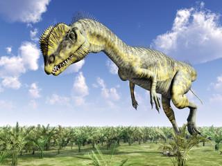 Dinosaur Dilophosaurus