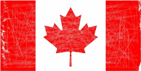 Canadian Flag Grunge