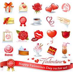 Valentines design elements