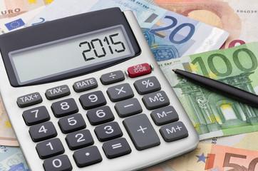 Fotomurales - Taschenrechner mit Geldscheinen - 2015