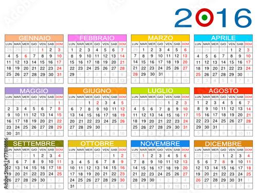 "Calendario 2016 Italia"" Stock image and royalty-free vector files on ..."
