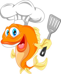 fish chef cartoon