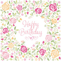 "Greeting Card ""Happy Birthday"""