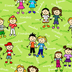 Seamless kids friendship pattern