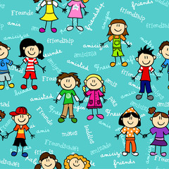 Seamless kids friendship pattern2