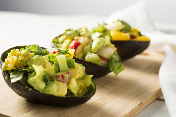 Reinvented Guacamike slices avocado salad