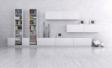 Interior of a room with sideboard
