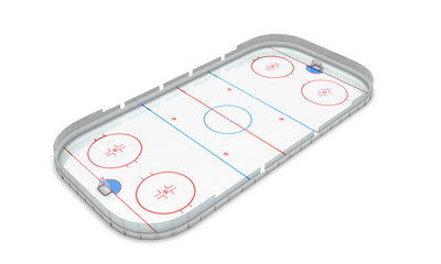 Ice hockey area perspective view
