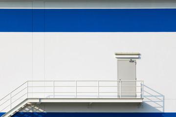Wall Mural - Emergency exit doorfor big factory