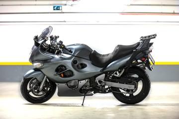 Motorcycle parking in garage
