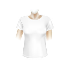 Vector White Women T-shirt