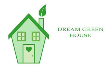 Cute eco green house