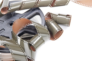 film rolls analog camera isolated