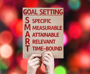Goal Setting - SMART card with colorful background