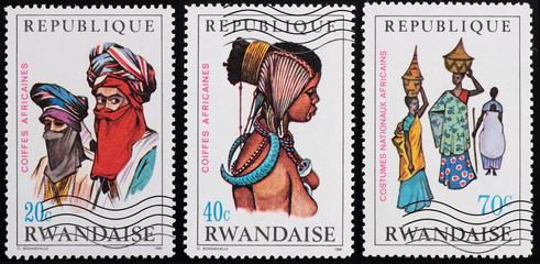 Post stamp. Rwanda