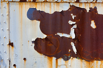 Rusty, peeling piece of steel for a background or grunge effect