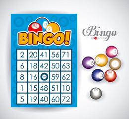 Bingo design, vector illustration.