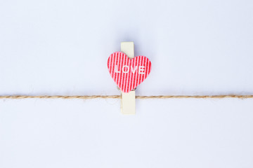 clothespin on white background