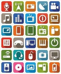Icons media color