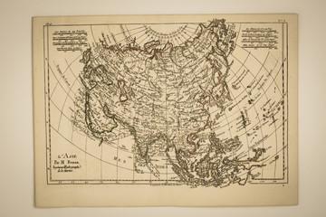 古地図 アジア図