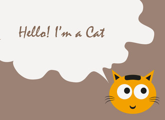 cat text quote vector, cat vector