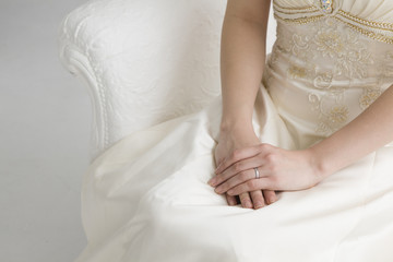 Bride wearing a wedding dress