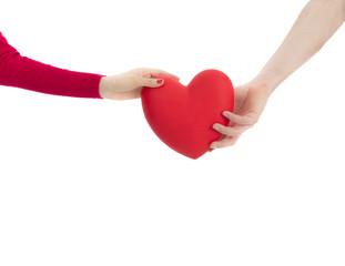 Hands reaching for heart