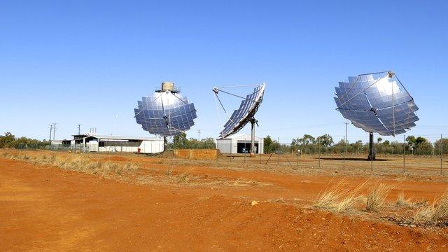 Solar farm, Windorah, Queensland, Australia