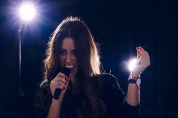 Rockstar singing girl