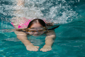 Girl Swimming Training
