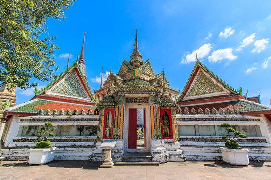 Pagoda at Wat Pho in Bangkok of Thailand