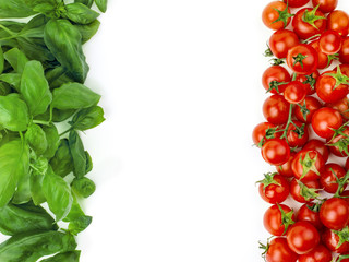The Italian flag made ​​up of fresh vegetables