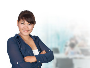 Portrait of young asia business woman 20 - 30 year old in her of