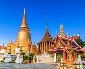 Wall Murals Place of worship Wat Phra Kaew or Wat Phra Si Rattana Satsadaram in Thailand
